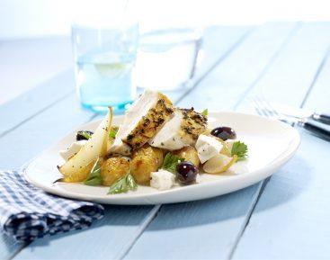 kylling-med-stegt-kartoffelsalat
